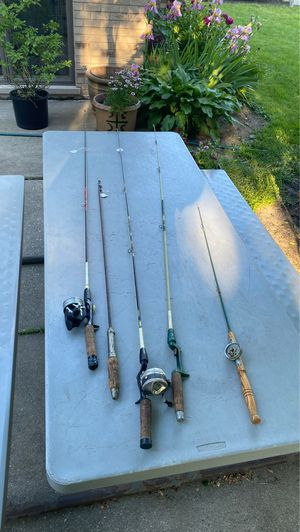 Rods and reels fishing pools picture says it all for Sale in Summit, IL