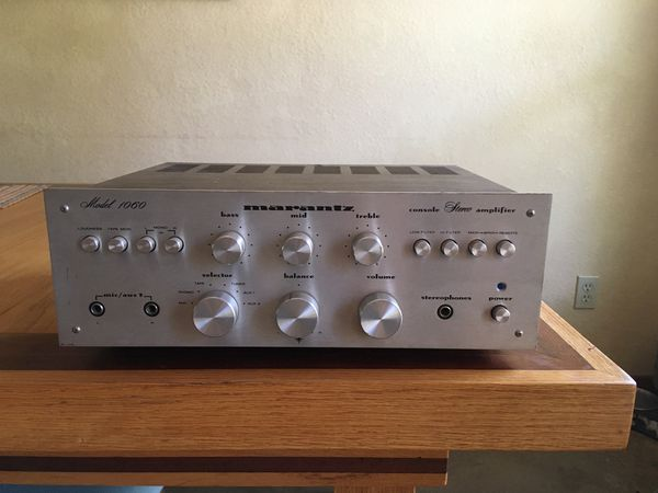 Vintage stereo receiver. Marantz model 1060. Purchased 1978. Has been carefully stored for the last 30 plus years. Works perfectly.