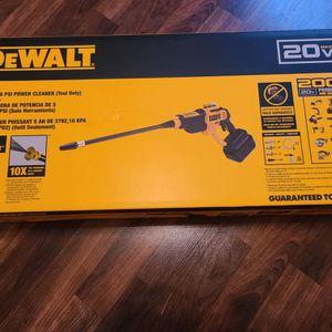 Dewalt20V MAX 550 PSI POWER CLEANER BARE TOOL for Sale in Harlingen, TX