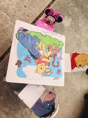 Kids play table with chairs for Sale in Fresno, TX