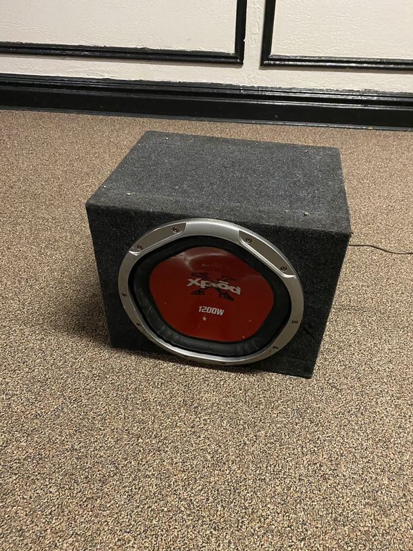 "12"" sub with box not amp"
