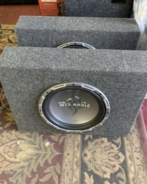 Mtx car audio . 12 inch car stereo subwoofer with truck box 1500 watts . New for Sale in Mesa, AZ
