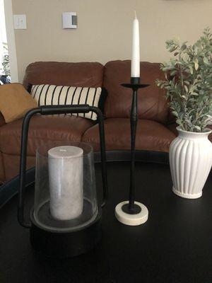 Lantern candle holder rod iron farmhouse decor for Sale in Tumwater, WA
