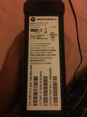 Router cable modem for Sale in Falls Church, VA