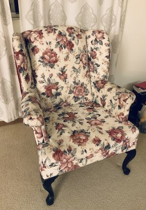 Flower Pattern Fabric Arm Chair for Sale in Peoria, IL