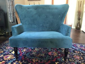 Turquoise sofa chair/loveseat for Sale in Austin, TX