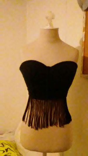 Charlotte Russe M Lace and Fringe Corset. Absolutely Beautiful for Sale in Tulsa, OK