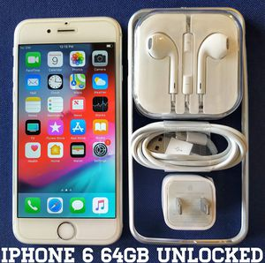 Iphone 6 (64GB) Factory-UNLOCKED + Accessories for Sale in Bailey's Crossroads, VA