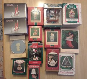 Vintage Christmas Ornaments and 2 Candle Holders for Sale in Tampa, FL