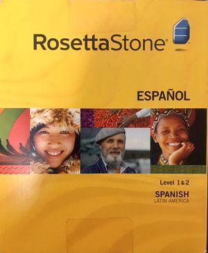 ROSETTA STONE SPANISH Level 1 & 2 for Sale in Chicago, IL