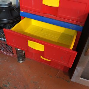 Toy Chest, Three Drawer Plastic for Sale in Cicero, IL