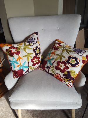 Pier one pillows (two) for Sale in Chesapeake, VA