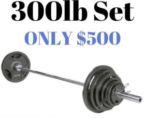 🔥Brand New🔥 Fitness Gear 300 lb. Olympic Weight Set 🔥 for Sale in Miami, FL