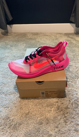 Nike Off white Tulip Zoom Fly size 11 for Sale in Dumfries, VA