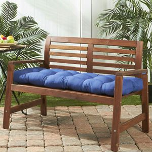 Blue Patio Bench Cushion Tufted Backyard Bench Pad for Sale in Santa Monica, CA