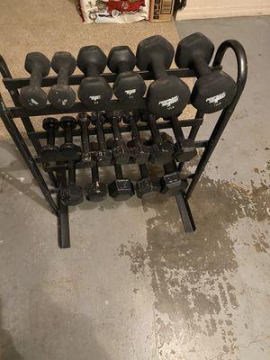 Dumbbells & Rack for Sale in Deltona, FL