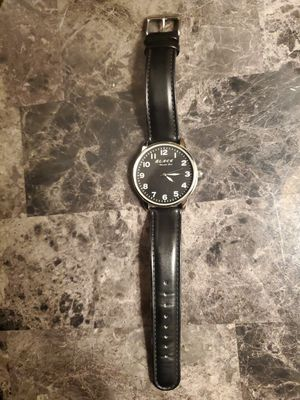 Men's Kenneth Cole Black watch with leather strap for Sale in Oaklandon, IN