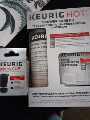 Keurig hot brewer care kit and my k cup for Sale for sale  Ventura, CA