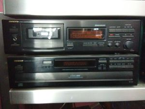 Onkyo cassette player and 5 disc DVD player with remote control for Sale in Washington, DC