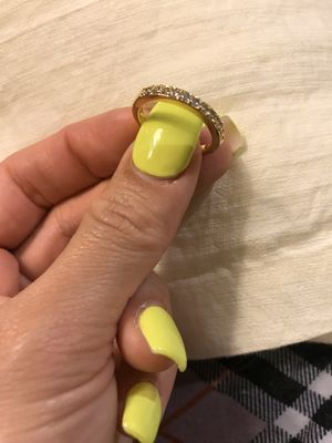 18K Yellow Gold plated Promises/Wedding Ring- Code W101 for Sale in San Diego, CA