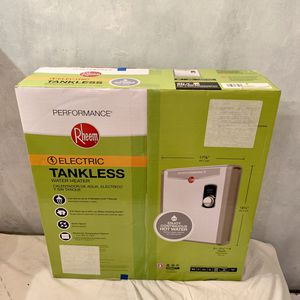 New Sealed Rheem Performance 240V 3 Heating Chambers Electric Tankless Water Heater. Model Number RETEX-27 for Sale in Hollywood, FL