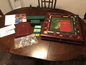 Franklin Mint Monopoly Board Game Deluxe Collectors Edition Solid Wood for Sale in Youngtown, AZ