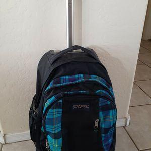 Jansport Plaid Rolling Backpack for Sale in Chandler, AZ