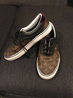 Vans custom LV Louis Vuitton leather Sz 9 for Sale in Downey, CA
