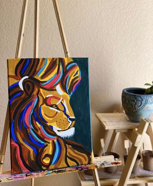 'Leo' the lion painting for Sale in Walnut Creek, CA