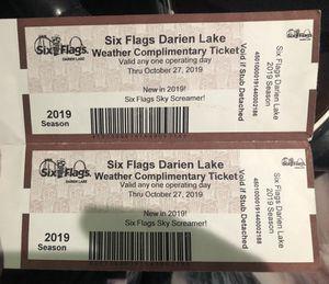 Six flag Darian lake pass for Sale in Buffalo, NY