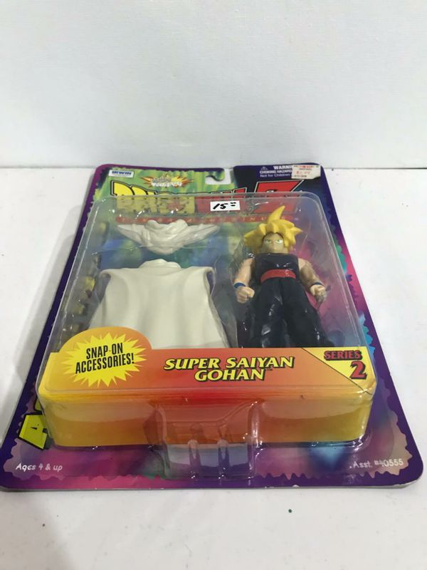 NEW Vintage Toy Collectible DRAGONBALL Z Saga Continues SUPER SAIYAN GOHAN Series 2 Collectible Figure with Accessories
