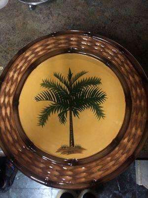 Pacific Rim, palm tree plate for Sale in Centreville, VA