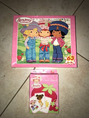Puzzle & Card Game - Strawberry Shortcake for Sale in Goodyear, AZ