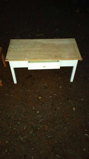 Coffee table with butcher block top and one drawer for Sale in US