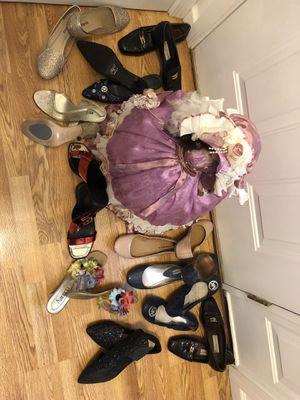 Dress up or down, MK, liquid metallic red, Amanda flower slides, Kelly & Katie, Aetienne Aigner, Bakers for Sale in Belleville, IL