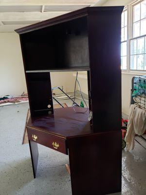 Hardwood Cherry Desk Multilevel Corner for Sale in Saratoga, CA