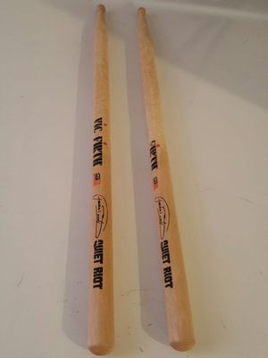 Frankie of Quiet riot drum sticks from the rock the valley music fest for Sale in McCleary, WA