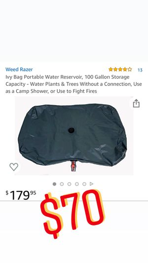 portable water reservoir - 100gallons for Sale in Pomona, CA
