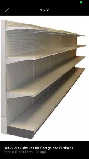 Gondolas for Busniess metal heavy duty shelves 7ft high 4 w for Sale in Grayson, GA
