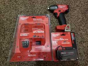 Milwaukee M18 FUEL 18-Volt Lithium-Ion Brushless Cordless 3/8 in. Impact Wrench with Friction Ring Kit for Sale in Modesto, CA