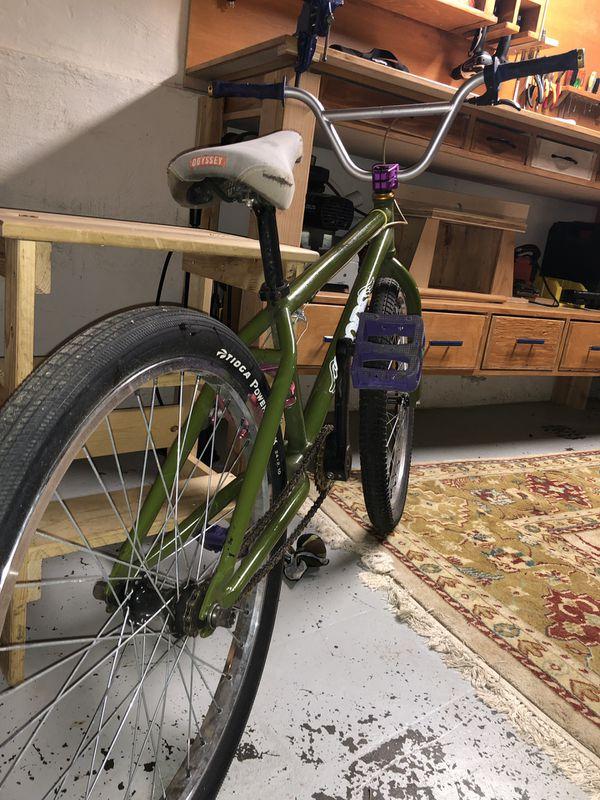 "20"" rim Big Bmx bike. Bike frame is a Goods Sunday Cruiser."