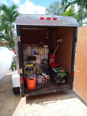 Trailer with car and boat detailing equipment for Sale in Oakland Park, FL