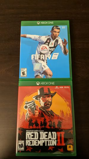 FIFA 19 + Red Dead Redemption 2 (Xbox one) for Sale in Akron, OH