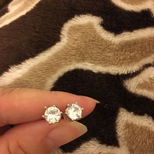 Silver Zircon Diamond Small Stud Earrings for Sale in Moreno Valley, CA