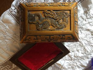 Antique Chinese box for jewelry/lined for Sale in Alexandria, VA