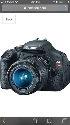 Canon EOS Rebel T3i Digital SLR Camera with EF-S 18-55mm f/3.5-5.6 IS Lens for Sale in Santa Monica, CA