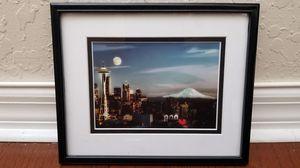 Seattle Skyline Glass-Framed Photo for Sale in Wesley Chapel, FL