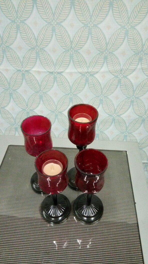 Candles set of 4