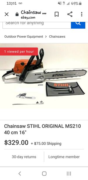 Stihl Ms-210 chainsaw with 16in bar for Sale in Missoula, MT