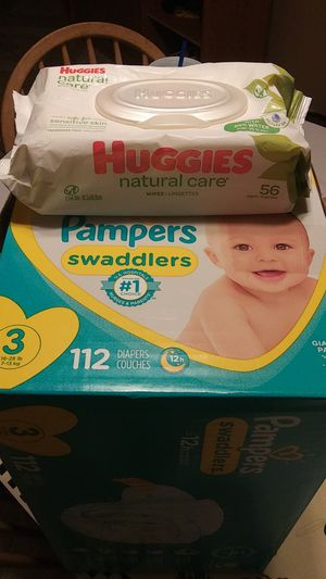Pampers swaddlers and huggies wipes 25 for everything for Sale in Phoenix, AZ